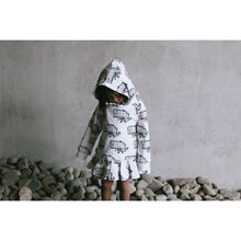 Dino Dress with Hoodie