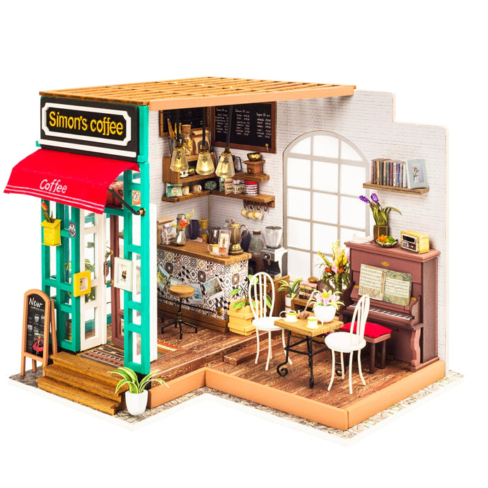 Hands Craft Simon's Coffee DIY Miniature Dollhouse Kit