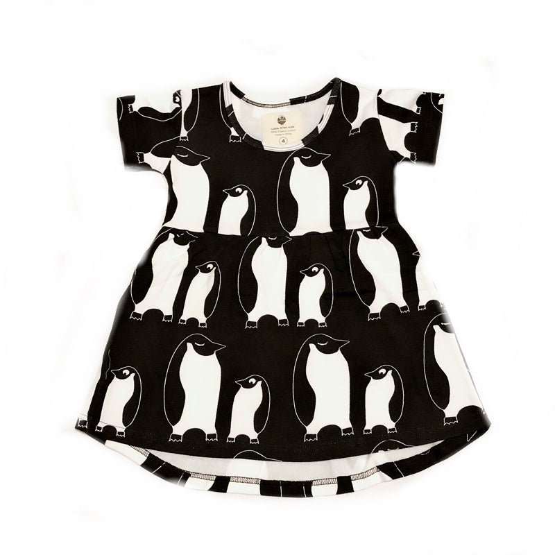 Penguin Fleece Short Sleeve Dress