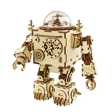 Hands Craft Steam Punk DIY 3D Wooden Puzzle Music Box