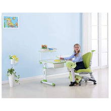 "ApexDesk DX 43"" Children's Height Adjustable Study Desk and Chair in Green"