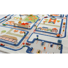 TRAFFIC BLUE 3D playroom Carpet X-Large 160x230cm