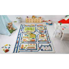 TRAFFIC BLUE 3D playroom Carpet Large 134x180cm