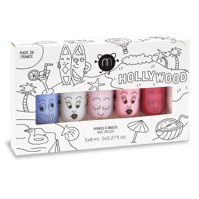 Hollywood - 5 Nail Polish Set