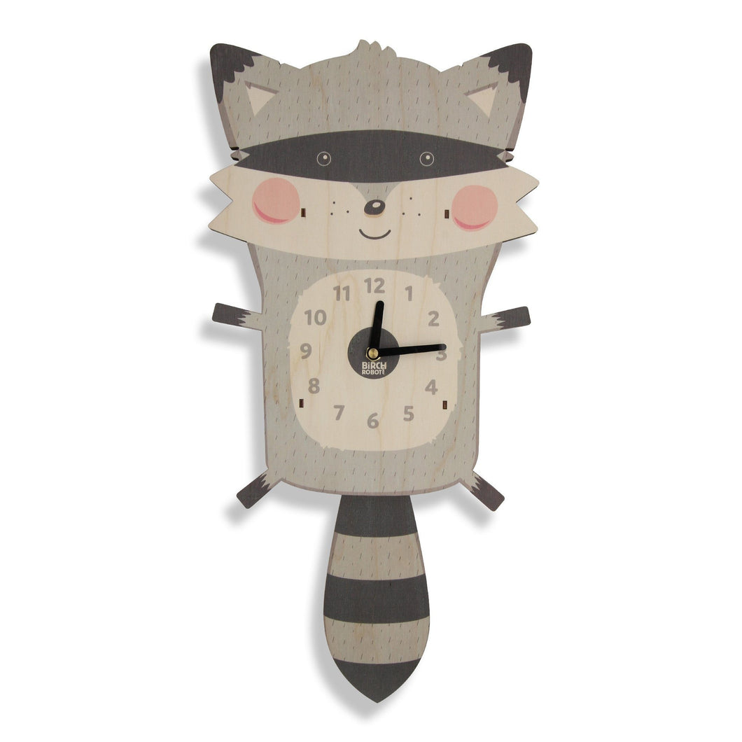 Raccoon clock