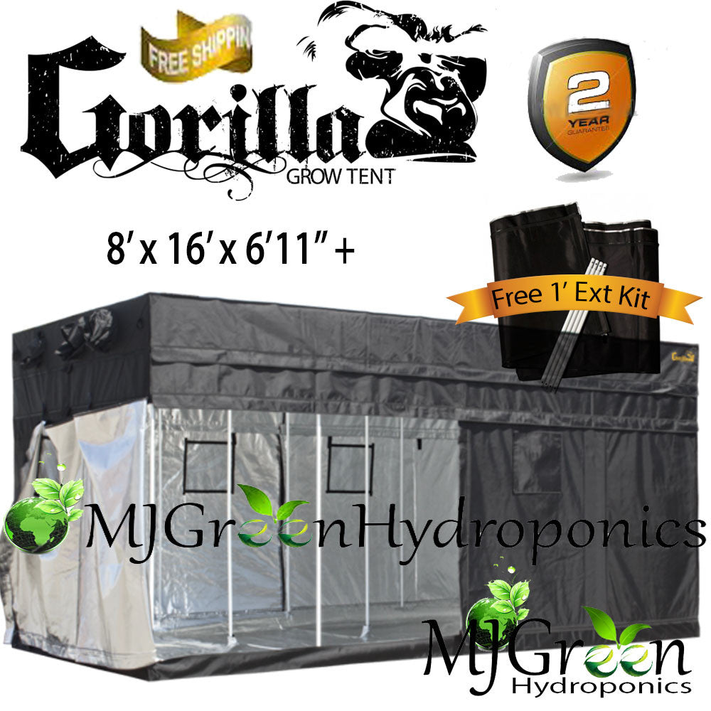 Gorilla Grow Tent OG w/ FREE 1u0027 Height Ext Kit  Choose Size & Gorilla Grow Tent OG w/ FREE 1u0027 Height Ext Kit : Choose Size ...