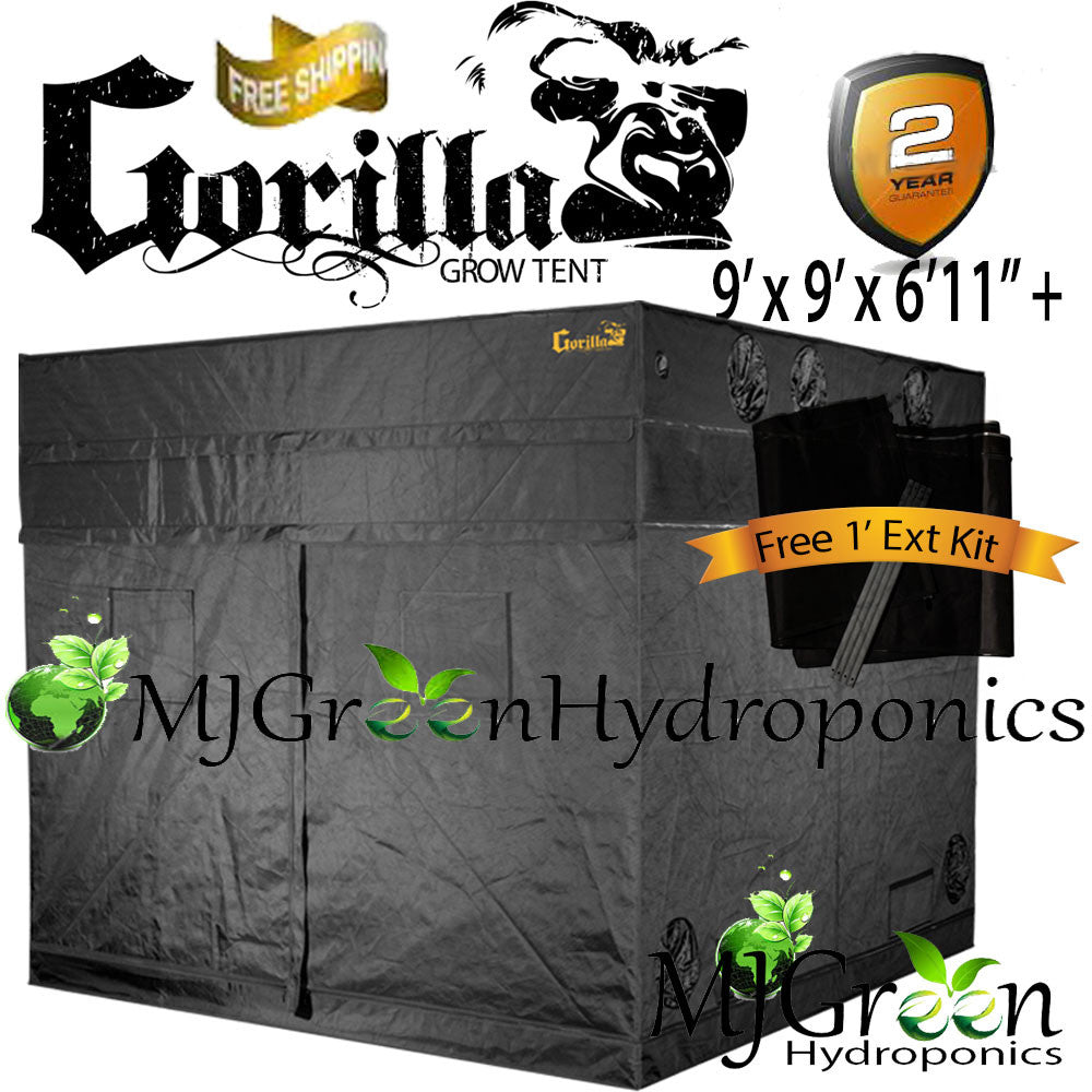 Gorilla Grow Tent OG w/ FREE 1u0027 Height Ext Kit  Choose Size  sc 1 st  MJGreen Hydroponics LLC & Gorilla Grow Tent OG w/ FREE 1u0027 Height Ext Kit : Choose Size ...