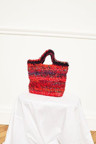 UPCYCLED CROCHET BAG - TARTAN