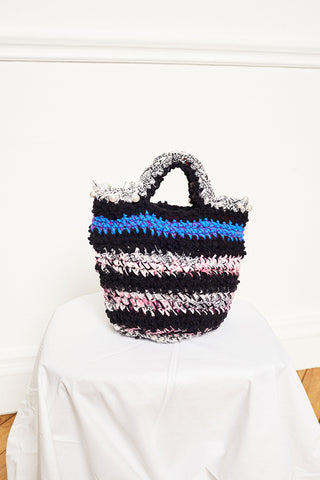 UPCYCLED CROCHET BAG - PEARLS