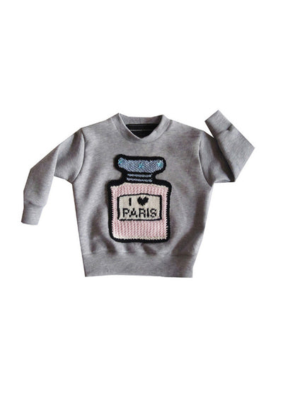 I LOVE PARIS CLASSIC in LIGHT GREY for Kids