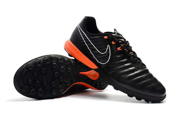 Chuteira Nike TiempoX Lunar Legend 7 TF Society - Black/orange/gray