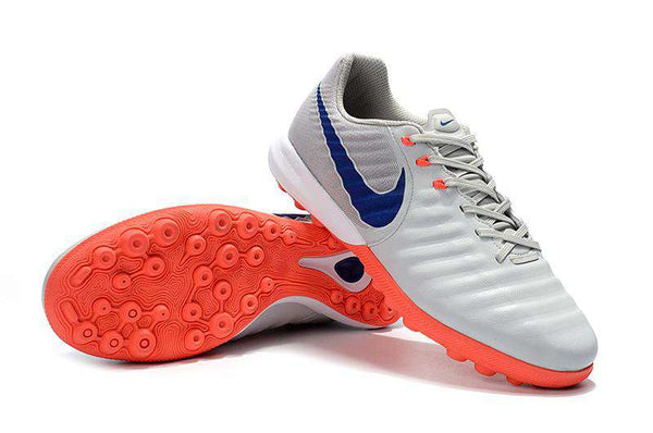Chuteira Nike TiempoX Lunar Legend 7 TF Society- Gray/Orange