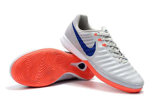 Chuteira Nike TiempoX Lunar Legend 7 IC Futsal- Orange/White