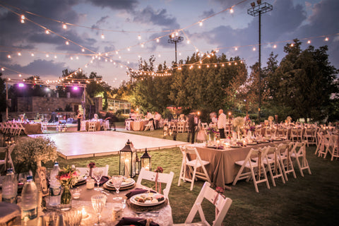 arranged wedding reception seating