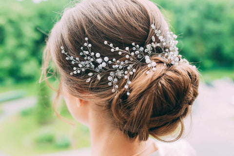 baby's breath wedding updo