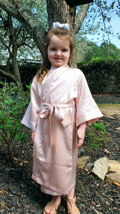 NEW! Blush Flower Girl & Junior Bridesmaid Robe