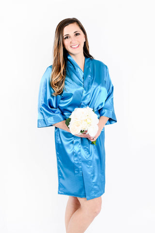 Emerald Green Satin Bridesmaid Robe