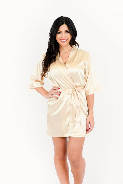 Gold Satin Bridesmaid Robe
