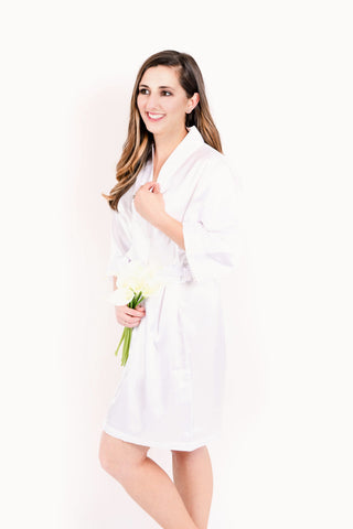 NEW - Blush Pink Satin Bridesmaid Robe