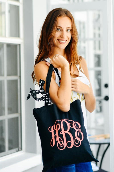 Monogrammed Initials Tote