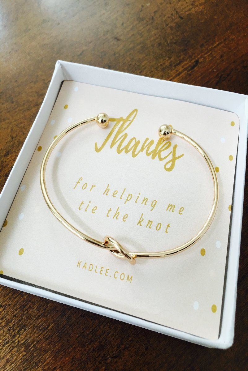 Gold Tie The Knot Bracelet