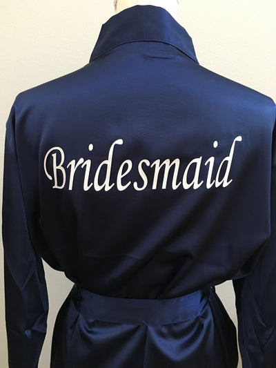 Purple Satin Bridesmaid Robe