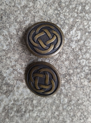 Brass Celtic Knot Buttons