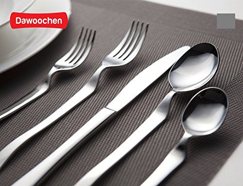 Dawoochen Heads Up Flatware 18/10 Stainless Steel 20pcs Closed Box
