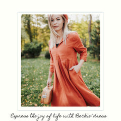 Linenbee.com linen dress Beckie