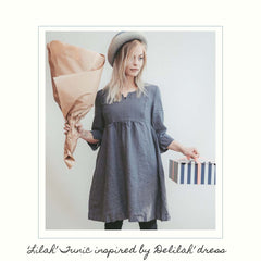 Linenbee.com linen tunic dress Lilah
