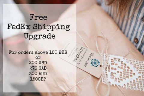 free shipping upgrade for orders above 180 EUR
