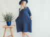 Linen Dress 'Jo Ann', Linen tunic with 3/4 Sleeves
