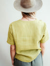 Linen T-shirt for Women with Set-In Sleeves