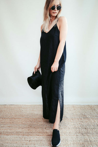 Maxi Slip Dress from Linen 'Angie', Cami Dress