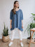 Oversized Linen Top Edith, Loose Plus Size Top Linen