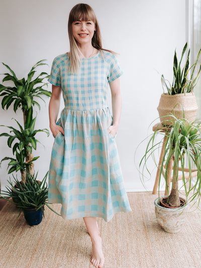 Linen Dress with Raglan Sleeves 'Lyra'