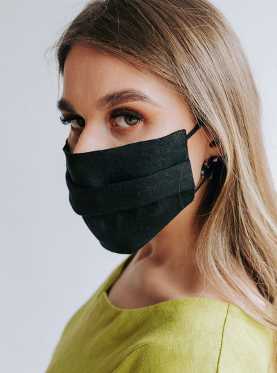 OEKO TEK certified linen face masks durable handmade by Linenbee