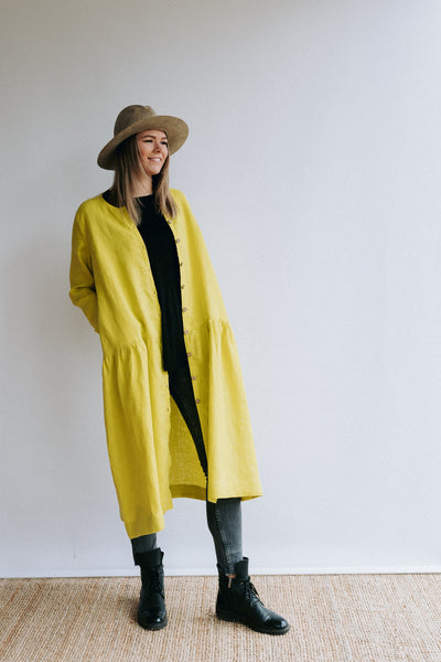 Linen Duster Women 'Leigh - long' Full length