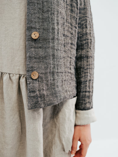 Linen and Wool Blazer for Women 'Fiona', Linen and Wool Jacket for Women