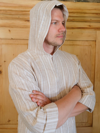 Men linen robe 'Scott', Mens tunic