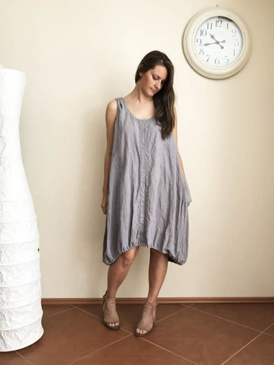 Sleeveless Handkerchief Tunic 'Diana' from Linen-Linenbee