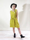 Sleeveless Linen Tunic Dress 'Laura' with V neckline