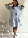 Womens Tunic 'Felicia', Plus Size Tunic Dress-Linenbee