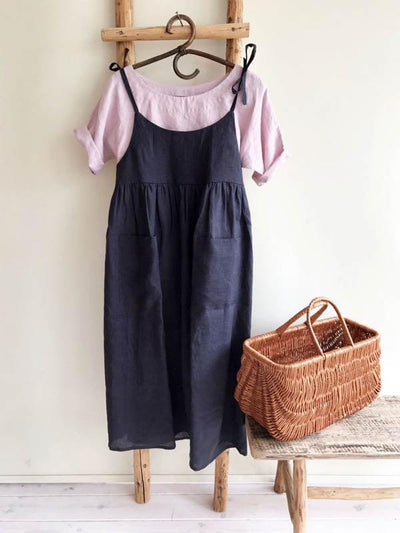 Linen Jumper Dress 'Angelica', Linen Sundress