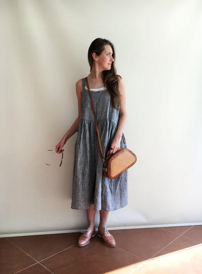 Linen Dress, Pinafore Dress, Sleeveless Maxi Dress, Pinafore Maxi Dress, Linen Maxi Dress, Plus Size Sundress, Linen Dress Women, Jumper