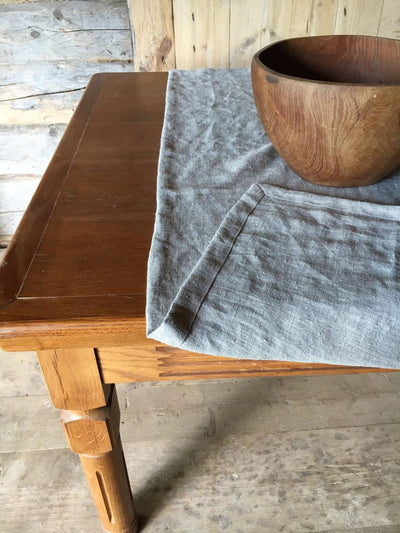 Natural Linen Table Cloth, Rustic Gorgeous texture Taupe Linen Tablecloth Rectangle, Tablecloth Square, Farmhouse Table, Tablecloth linen