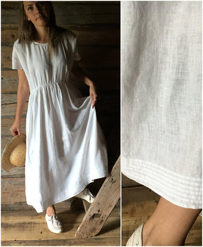 White Linen Dress 'Mara', Long Linen dress, Plus size maxi dress with sleeves, white summer dress, plus size dress, white linen dress women