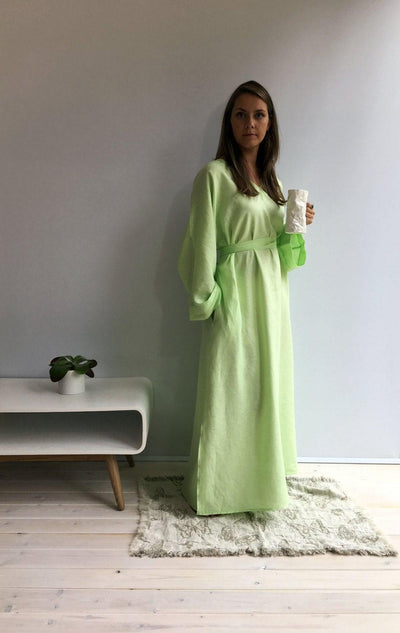 Linen kaftan, linen robe, Linen Homewear, Linen loungewear, plus size robe, linen maxi dress, kaftan for women maxi robe linen, kimono robe