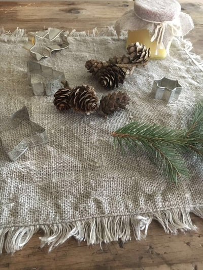 Burlap placemats, Rustic Placemats, Country Placemats, Christmas Placemats, Holiday Placemats, Fall Placemats, Natural linen placemats linen