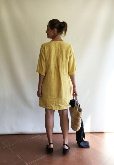 Linen Tunic, Plus size tunic, Linen Dress for Women, Linen Tunic Dress, Womens tunic, loose linen tunics, plus size clothing, tunic tops